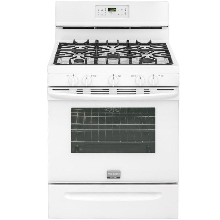 Frigidaire 5-Burner Freestanding 5-cu ft Convection Gas Range (White) (Common: 30-in; Actual: 29.875-in)