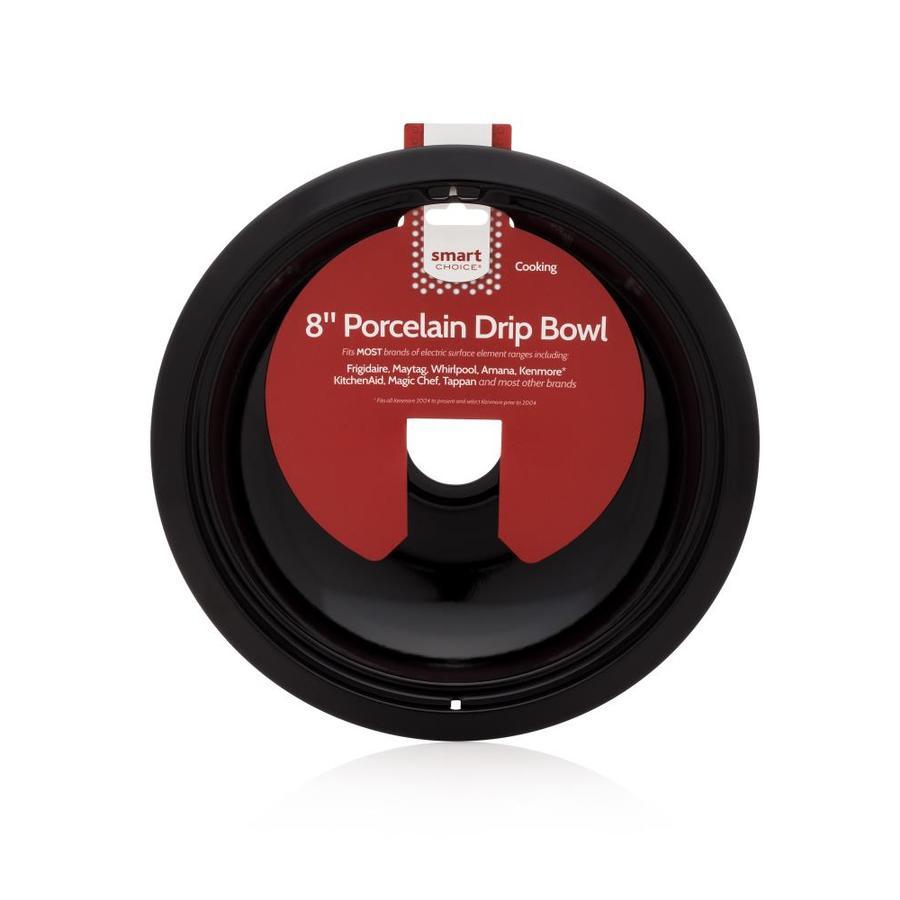 Smart Choice 8-in Black Porcelain Burner Bowl, Fits Most