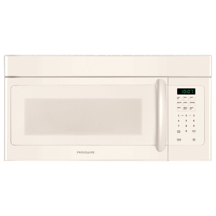Frigidaire 1.6-cu ft Over-the-Range Microwave with Sensor Cooking Controls (Bisque) (Common: 30-in; Actual: 29.88-in)