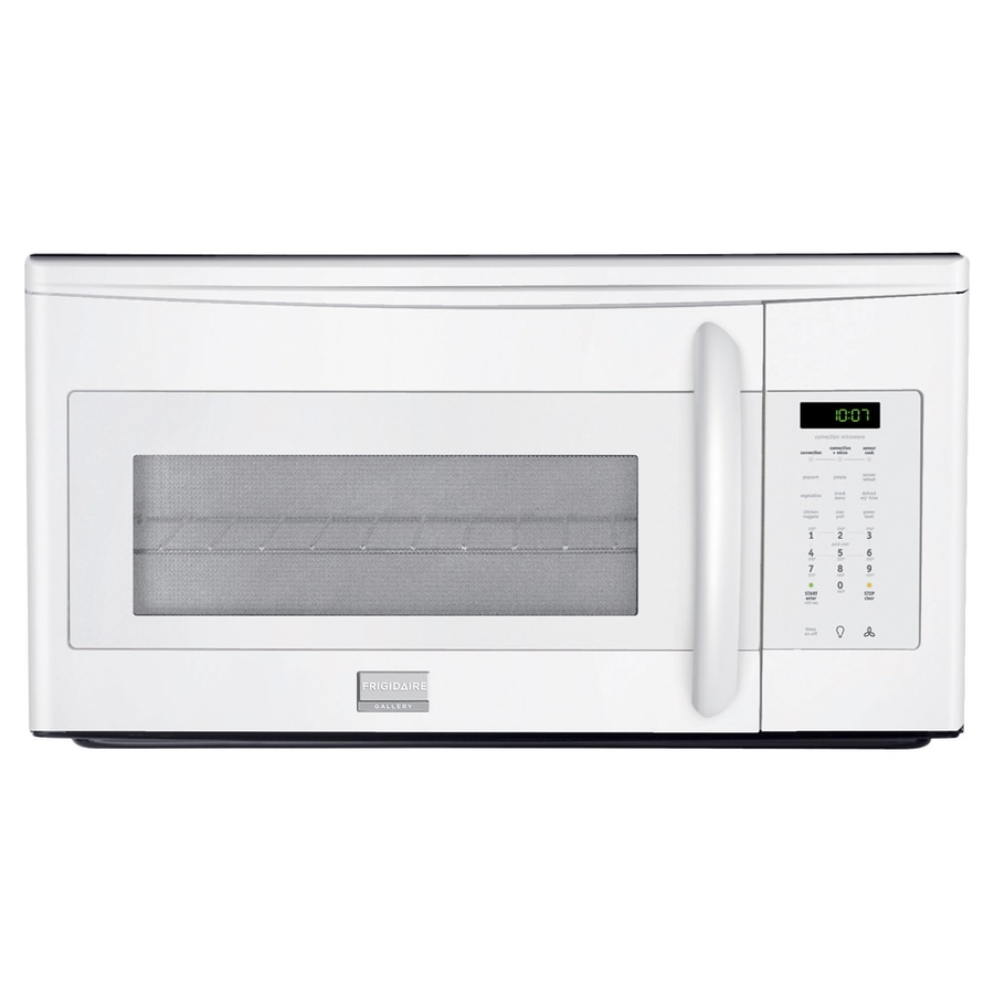 Frigidaire Gallery 1.5-cu ft Over-The-Range Convection Oven Microwave with Sensor Cooking Controls (White) (Common: 30-in; Actual: 29.87-in)