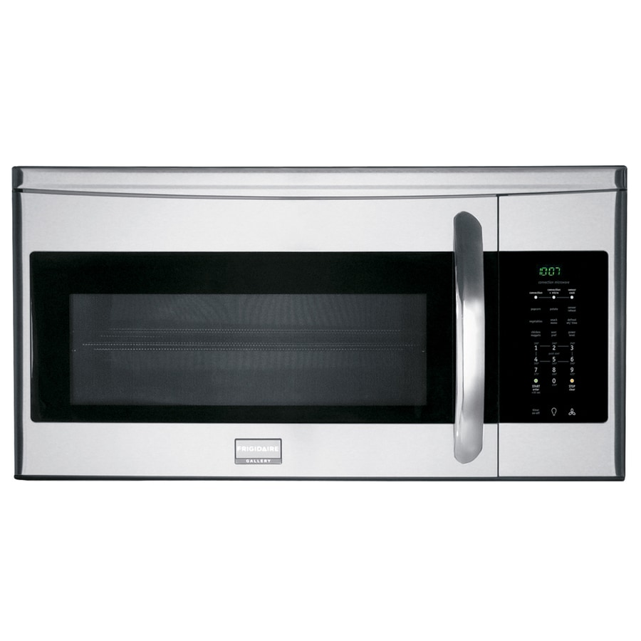 Frigidaire Gallery 1.5-cu ft Over-The-Range Convection Oven Microwave with Sensor Cooking Controls (Stainless Steel) (Common: 30-in; Actual: 29.87-in)