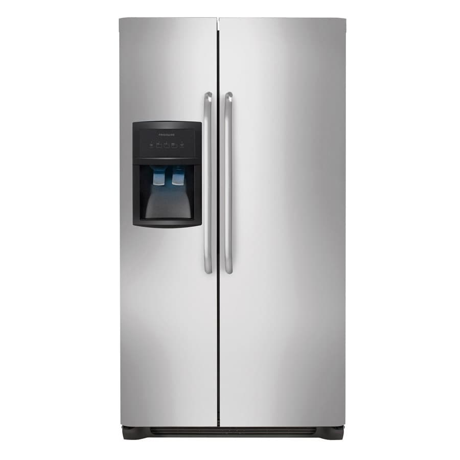 Frigidaire 22.1-cu ft Side-by-Side Refrigerator with Single Ice Maker (Stainless Steel)