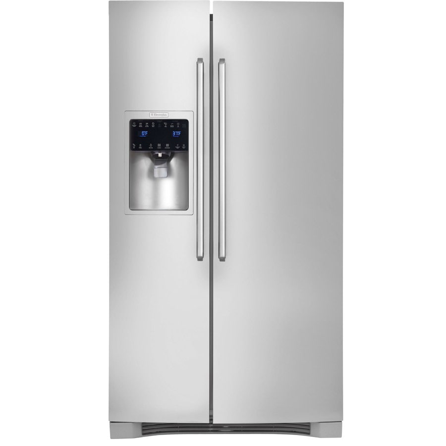 Electrolux 22.6-cu ft Counter-Depth Side-by-Side Refrigerator Single Ice Maker (Stainless Steel)