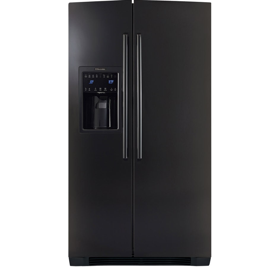 Electrolux 22.6-cu ft Side-By-Side Counter-Depth Refrigerator with Single Ice Maker (Black) ENERGY STAR