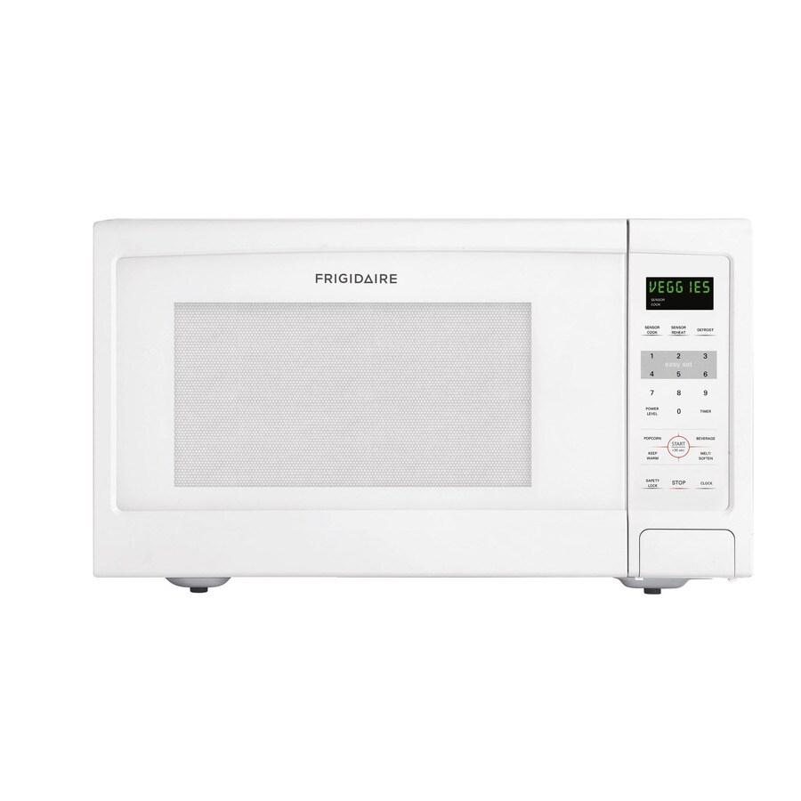 Frigidaire 1.6-cu ft 1,100-Watt Countertop Microwave (White)