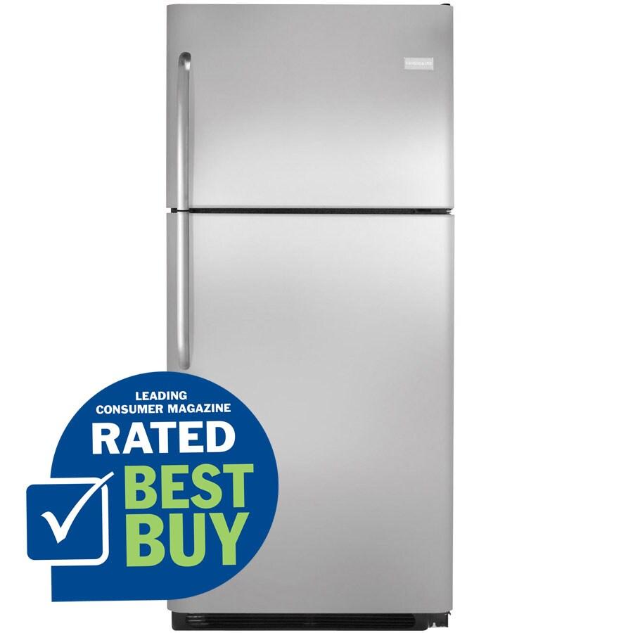Frigidaire 20.5-cu ft Top-Freezer Refrigerator (Stainless Steel)