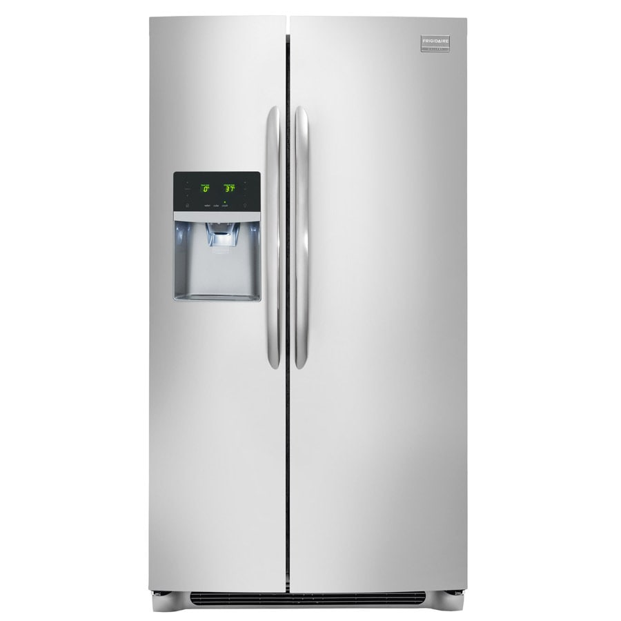 Frigidaire Gallery 26-cu ft Side-by-Side Refrigerator with Single Ice Maker (SmudgeProof) ENERGY STAR