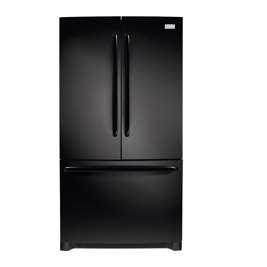 Frigidaire 26.7-cu ft French Door Refrigerator with Single Ice Maker (Black) ENERGY STAR