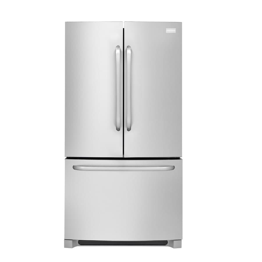Frigidaire 26.7-cu ft French Door Refrigerator with Single Ice Maker (Stainless Steel) ENERGY STAR