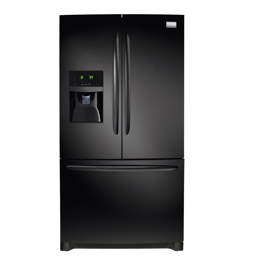 Frigidaire Gallery 27.7-cu ft French Door Refrigerator with Single Ice Maker (Black)