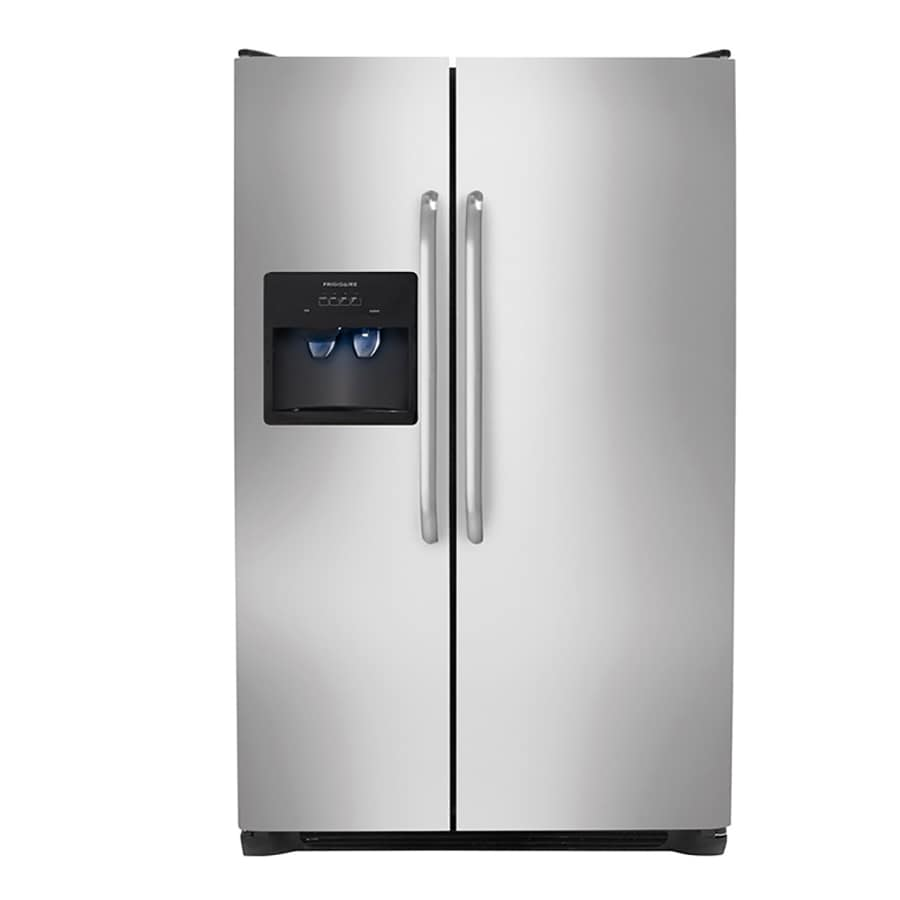 Frigidaire 26-cu ft Side-by-Side Refrigerator with Single Ice Maker (Easycare)