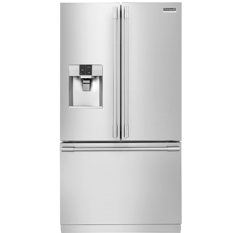 Frigidaire Professional 22.6-cu ft Counter-Depth French Door Refrigerator with Dual Ice Maker (SmudgeProof)