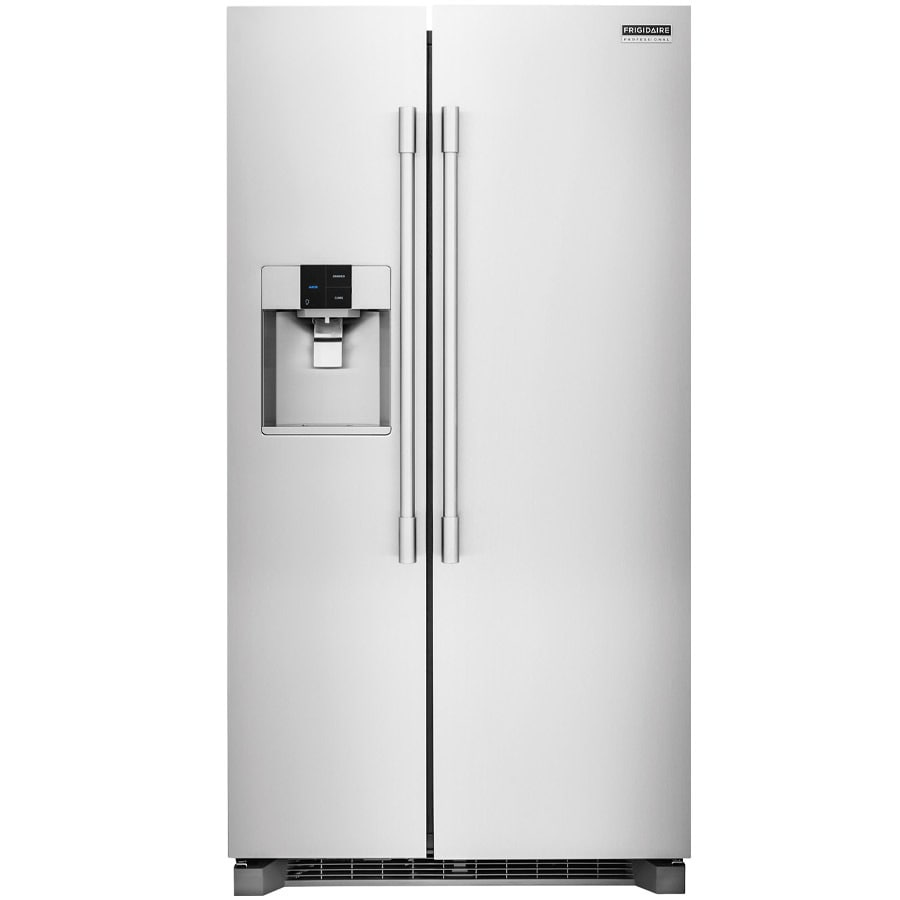 Frigidaire Professional 22.6-cu ft Counter-Depth Side-by-Side Refrigerator with Single Ice Maker (Stainless Steel)