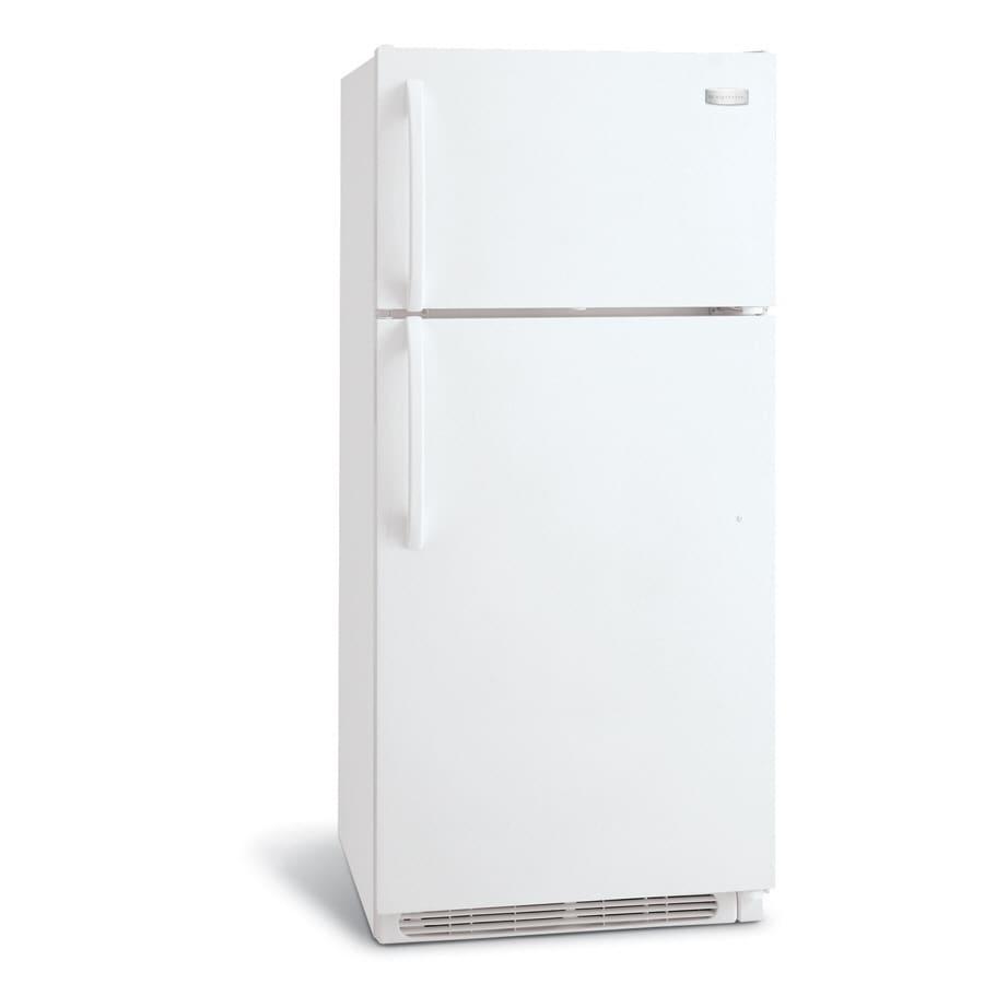 Frigidaire 20.5-cu ft Top-Freezer Refrigerator with Single Ice Maker (White)