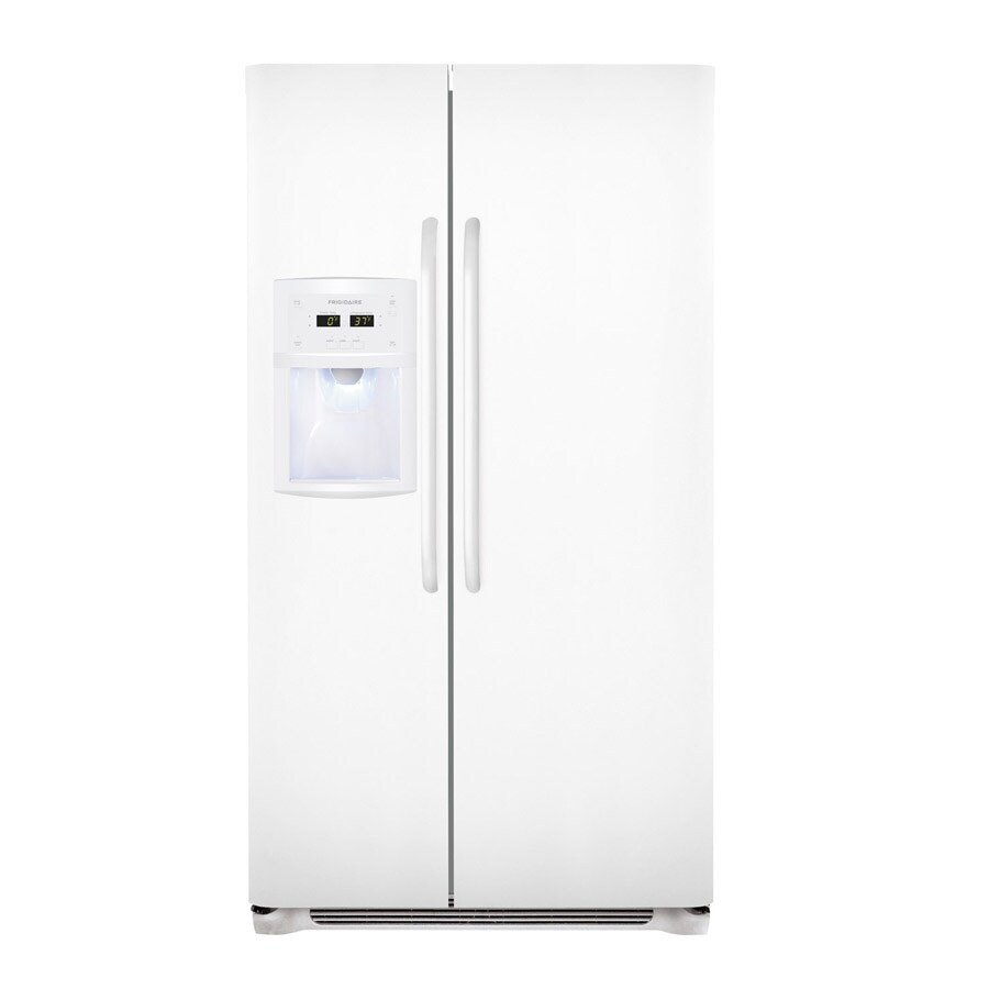 Frigidaire 22.6-cu ft Counter-Depth Side-by-Side Refrigerator with Single Ice Maker (Smooth White)