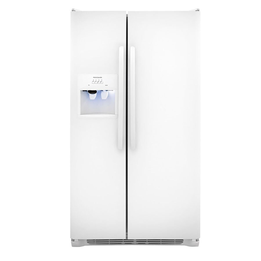 Frigidaire 22.07-cu ft Side-by-Side Refrigerator with Single Ice Maker (White)