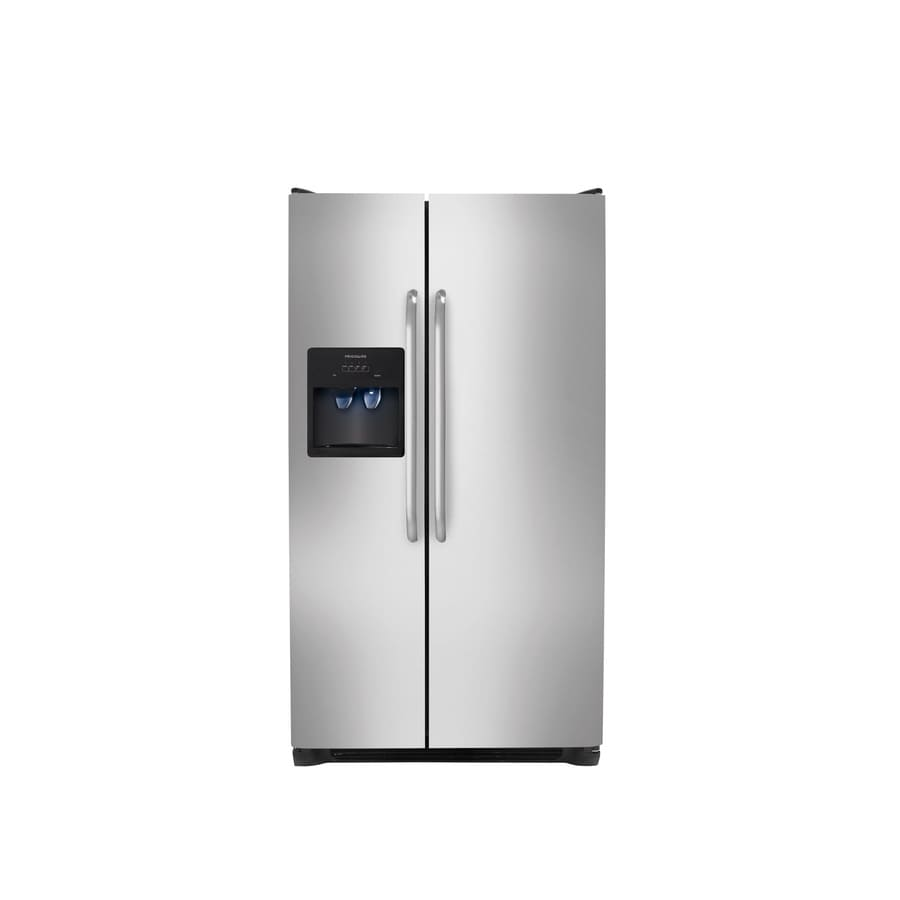 Frigidaire 26-cu ft Side-by-Side Refrigerator with Single Ice Maker (Stainless Steel)