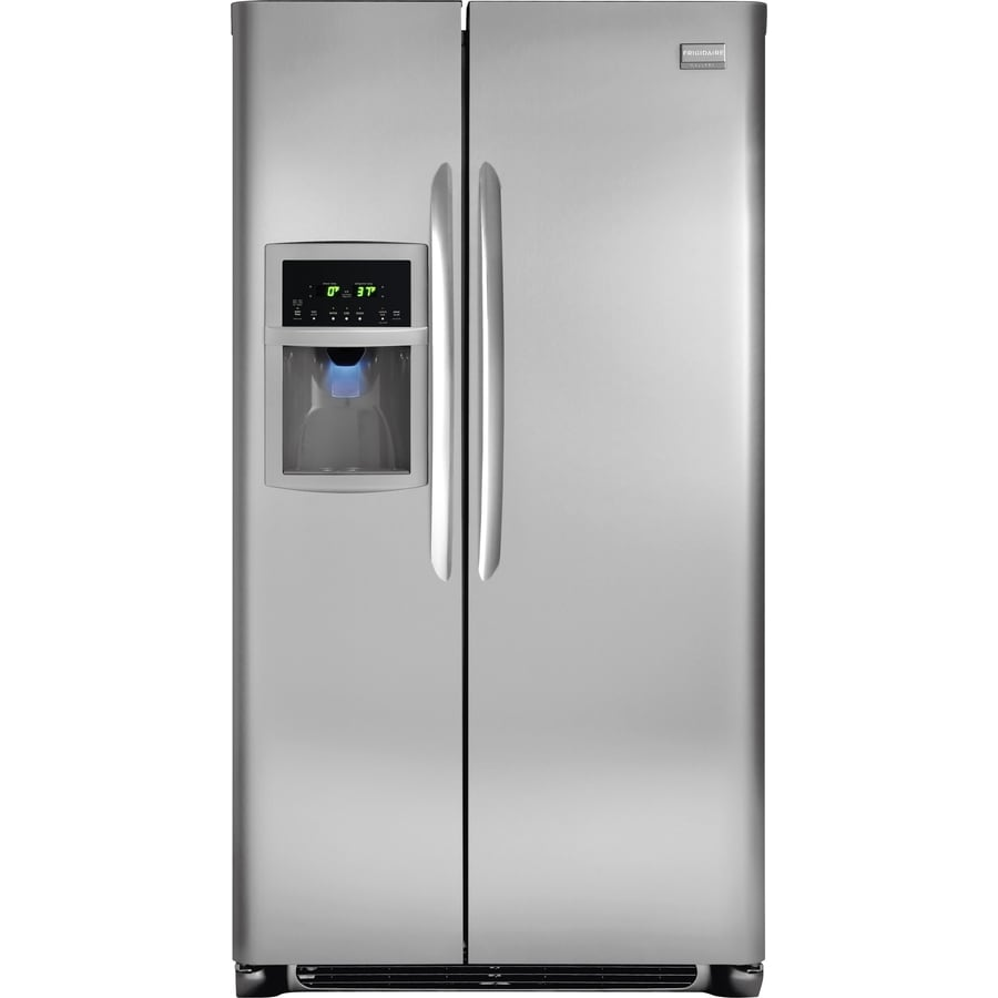 Frigidaire Gallery 26.1-cu ft Side-By-Side Refrigerator with Single Ice Maker (Stainless Steel) ENERGY STAR