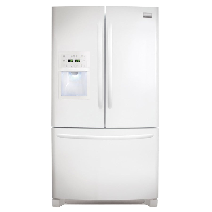 Frigidaire Gallery 26.7-cu ft French Door Refrigerator with Dual Ice Maker (Smooth White)