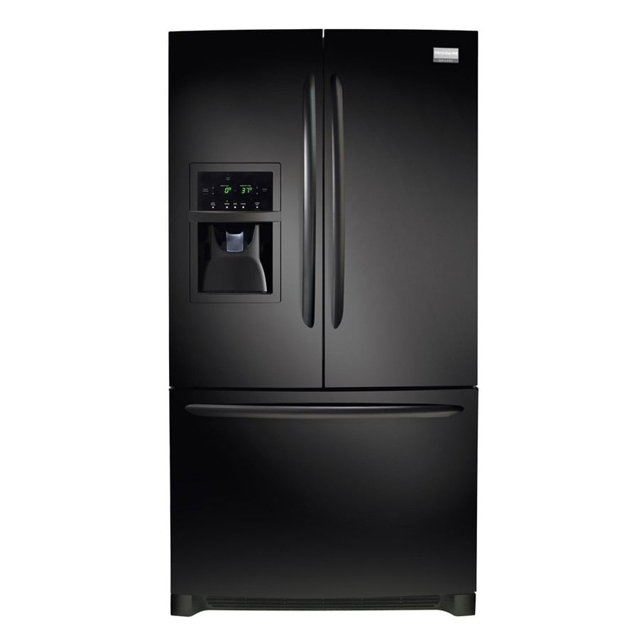Frigidaire Gallery 26.7-cu ft French Door Refrigerator with Dual Ice Maker (Smooth Black) ENERGY STAR