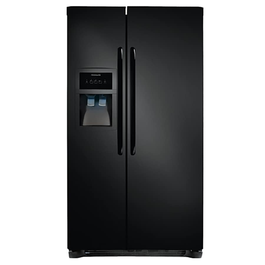 Frigidaire 22.07-cu ft Side-by-Side Refrigerator with Single Ice Maker (Black)