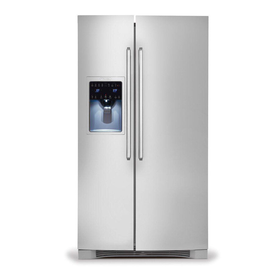 Electrolux 26-cu ft Side-by-Side Refrigerator Single Ice Maker (Stainless Steel) ENERGY STAR