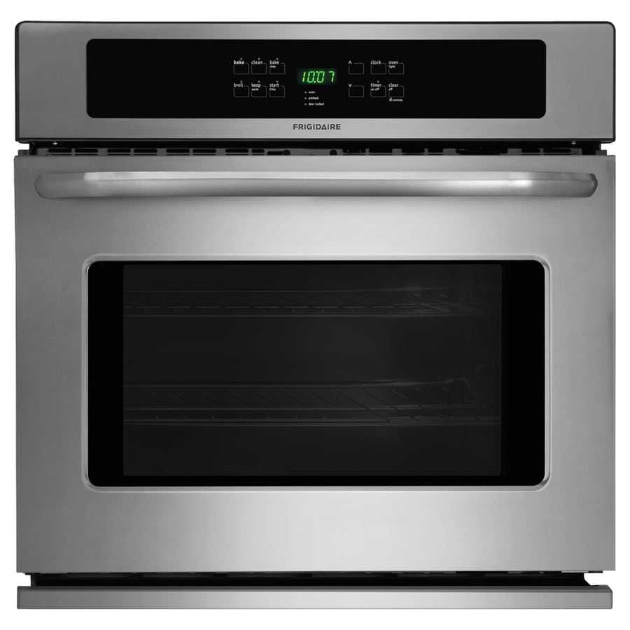 Frigidaire Self-Cleaning Single Electric Wall Oven (Stainless Steel) (Common: 30-in; Actual 30-in)