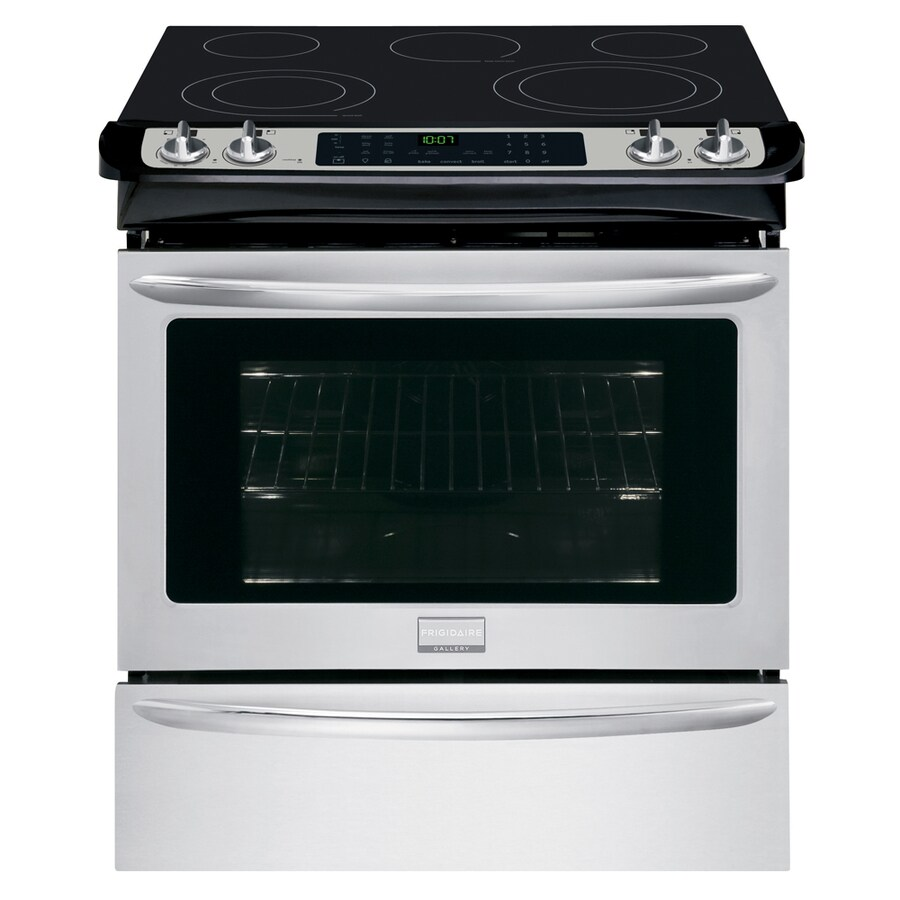 Frigidaire Gallery Smooth Surface 5-Element Slide-In Convection Electric Range (Stainless Steel) (Common: 30-in; Actual 30-in)