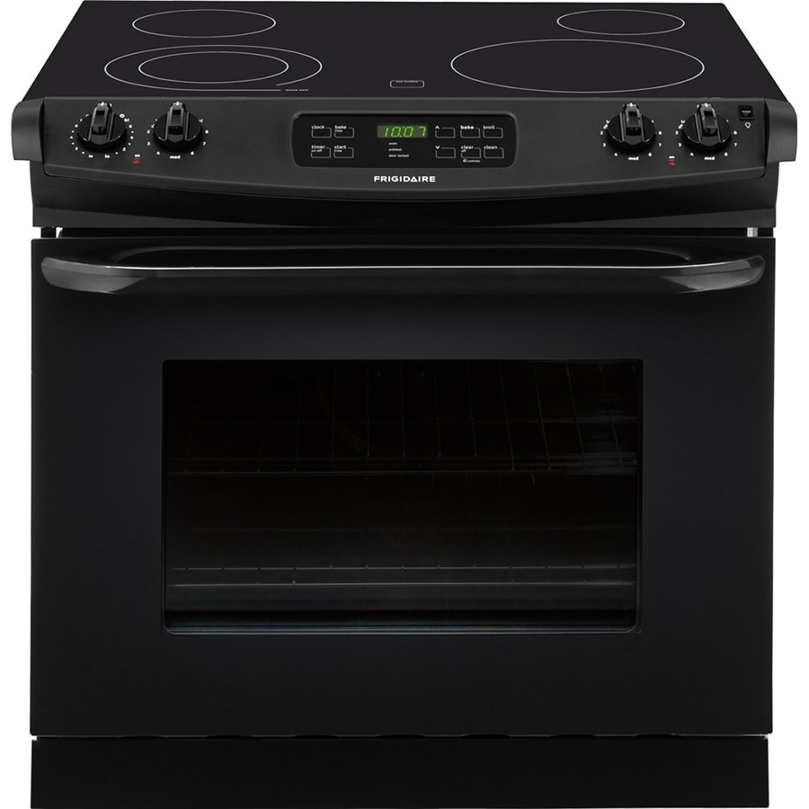 Frigidaire 30-in Smooth Surface 4.6-cu ft Self-Cleaning Drop-In Electric Range (Black)