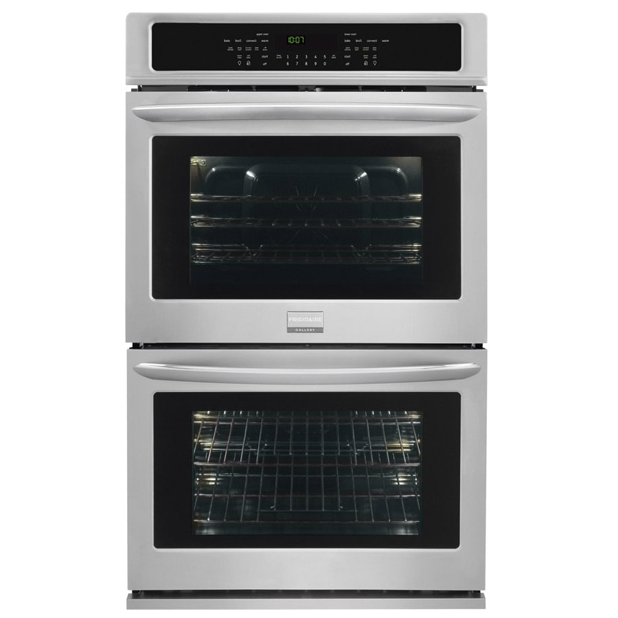 Frigidaire Gallery Convection Single-Fan European Element Double Electric Wall Oven (Stainless Steel) (Common: 27-in; Actual: 27-in)