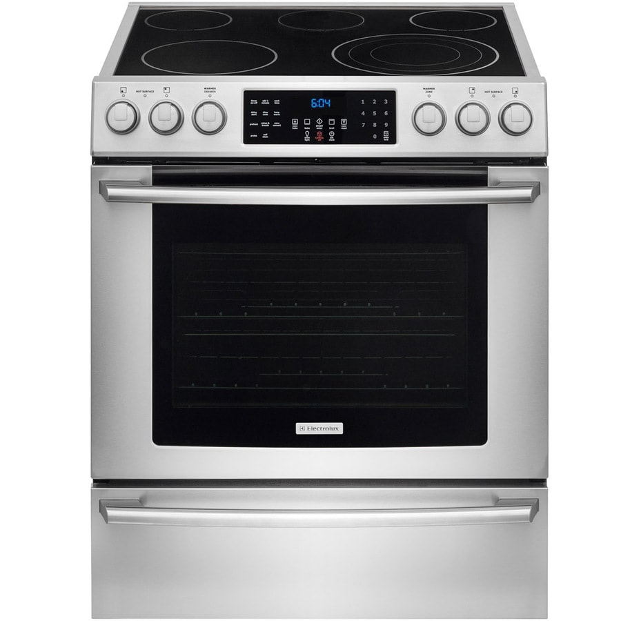 Electrolux Smooth Surface Freestanding 5-Element 4.6-cu ft Self-Cleaning Convection Electric Range (Stainless Steel) (Common: 30-in; Actual: 30-in)