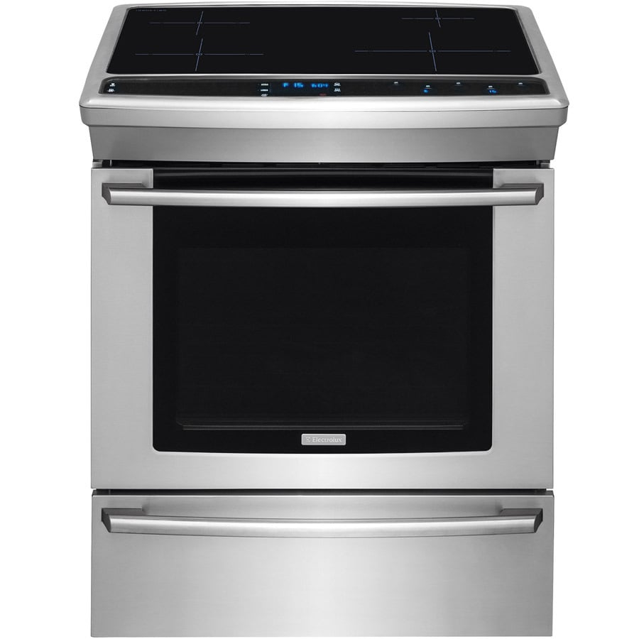 Electric Kitchen Stoves Lowes ~ Shop electrolux smooth surface self cleaning slide in