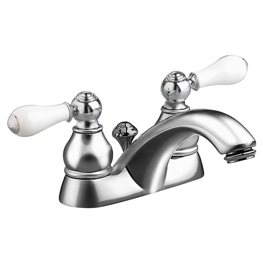 American Standard Hampton Polished Chrome 2-Handle 4-in Centerset WaterSense Bathroom Faucet (Drain Included)