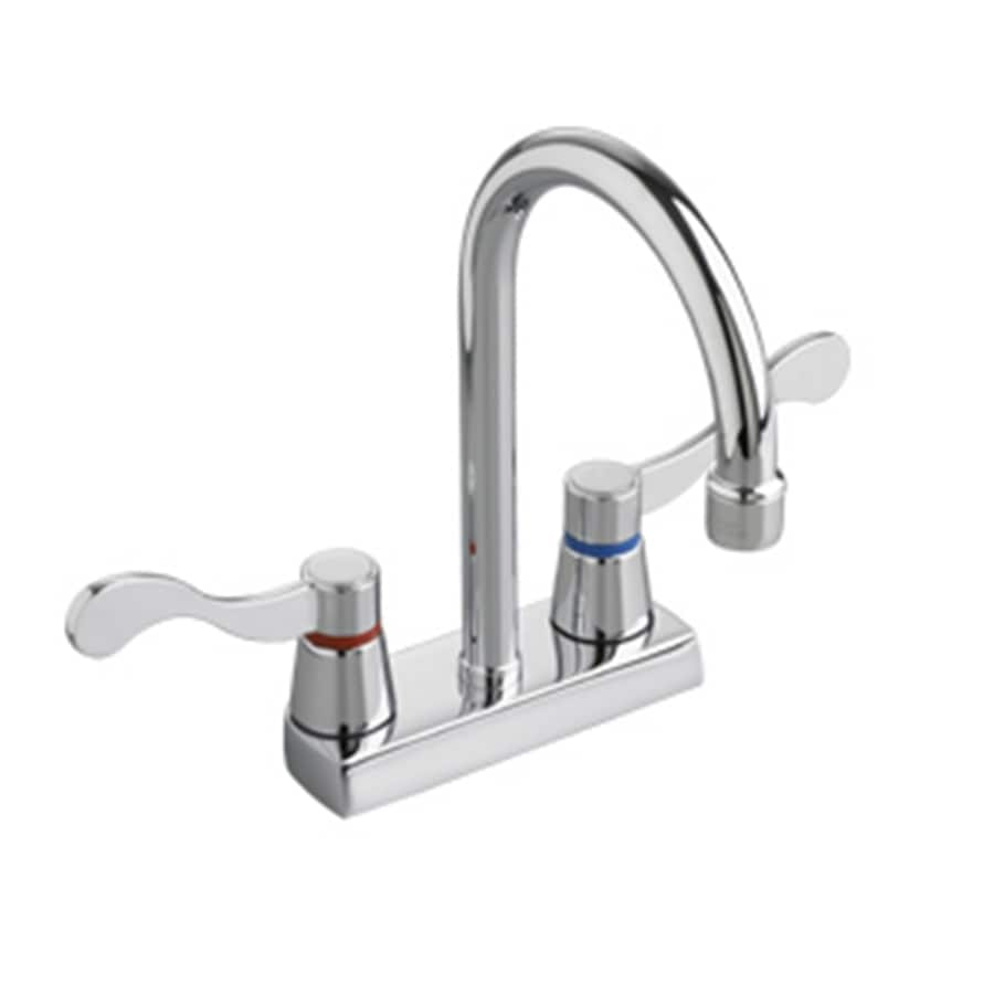Shop american standard heritage polished chrome 2 handle 4 for American standard bathroom faucets reviews