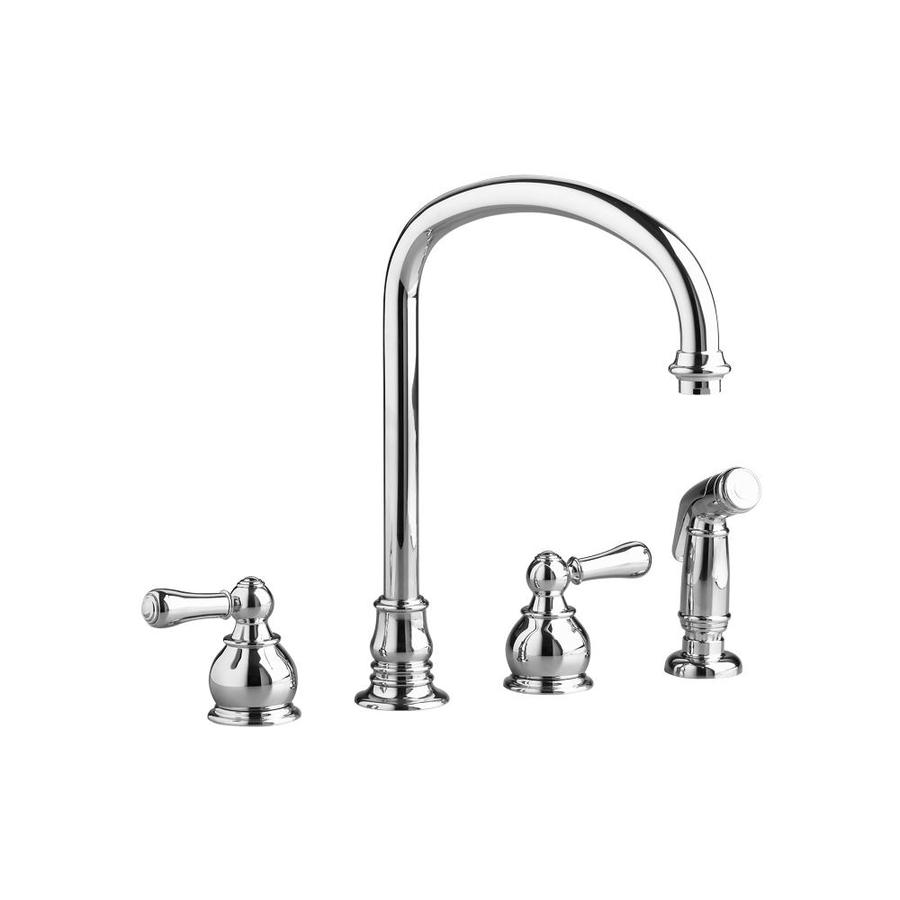 American Standard Hampton Polished Chrome 2-Handle High-Arc Kitchen Faucet with Side Spray