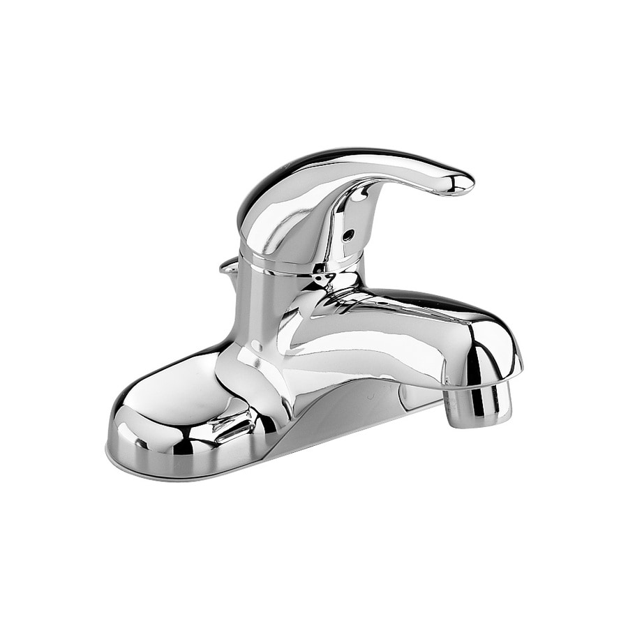 American Standard Colony Polished Chrome 1-Handle 4-in Centerset WaterSense Bathroom Faucet (Drain Included)