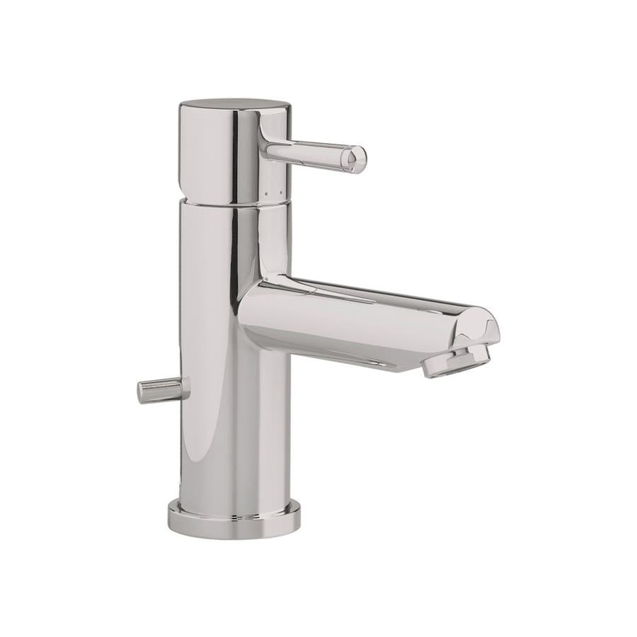 American Standard Serin Satin Nickel 1-Handle Single Hole WaterSense Bathroom Faucet (Drain Included)