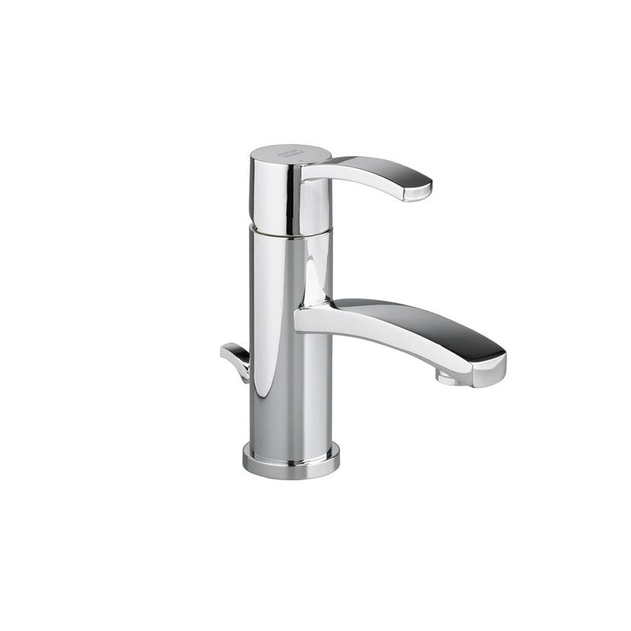 ... Chrome 1-Handle Single Hole WaterSense Bathroom Faucet (Drain Included
