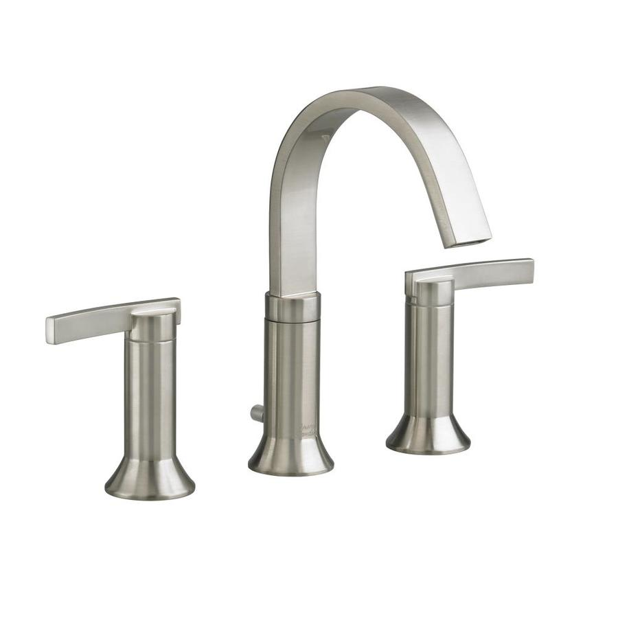 American Standard Berwick Satin Nickel 2-Handle Widespread WaterSense Bathroom Faucet (Drain Included)