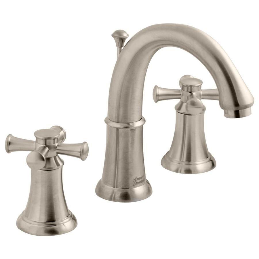 American Standard Portsmouth Satin Nickel 2-Handle Widespread WaterSense Bathroom Faucet (Drain Included)