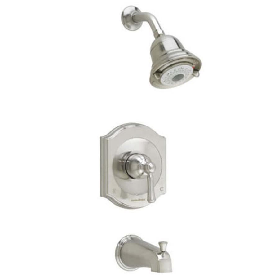 American Standard Portsmouth Satin Nickel 1-Handle Bathtub and Shower Faucet Trim Kit with Multi-Function Showerhead