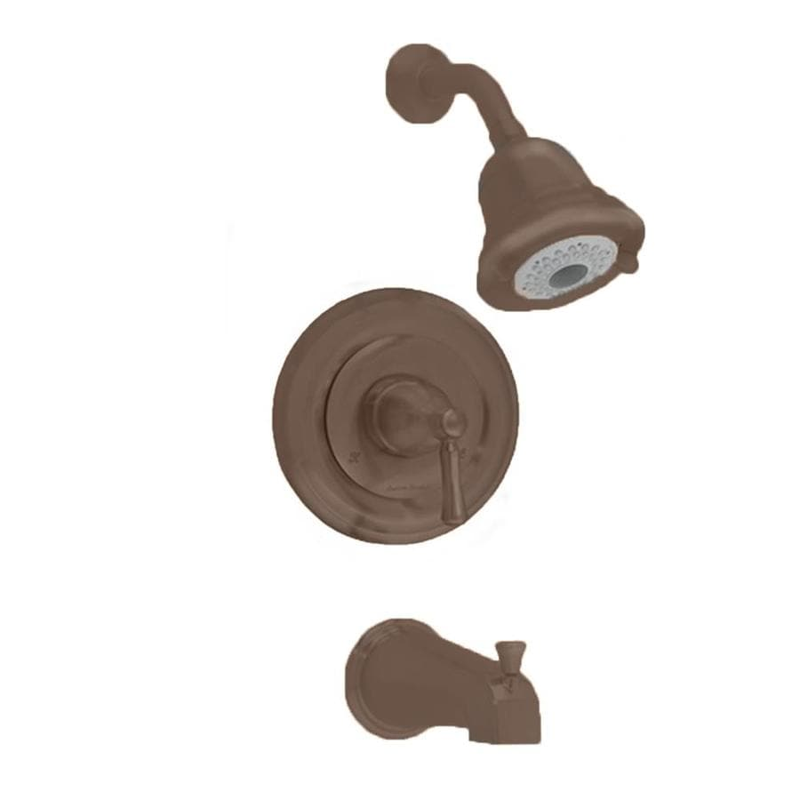 American Standard Portsmouth Oil-Rubbed Bronze 1-Handle Bathtub and Shower Faucet Trim Kit with Multi-Function Showerhead