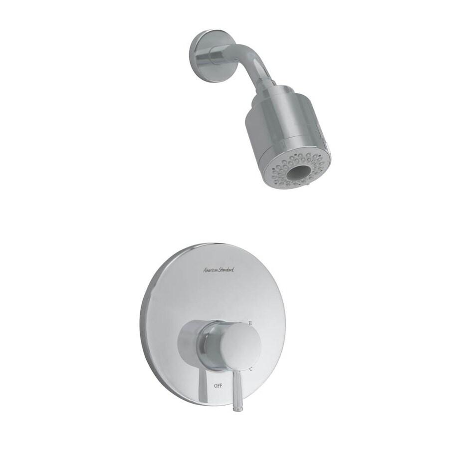 American Standard Serin Satin Nickel 1-Handle Shower Faucet Trim Kit with Multi-Function Showerhead