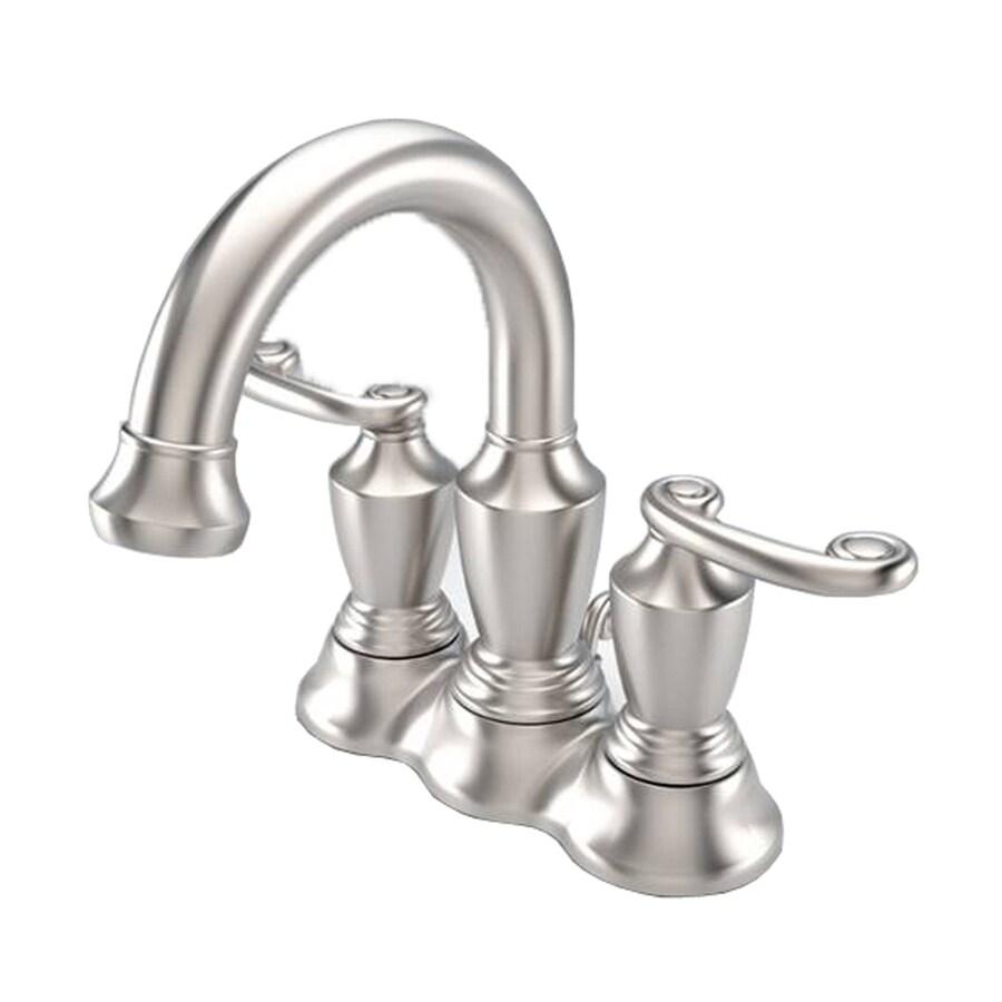 Shop Aquasource Satin Nickel 2 Handle 4 In Centerset