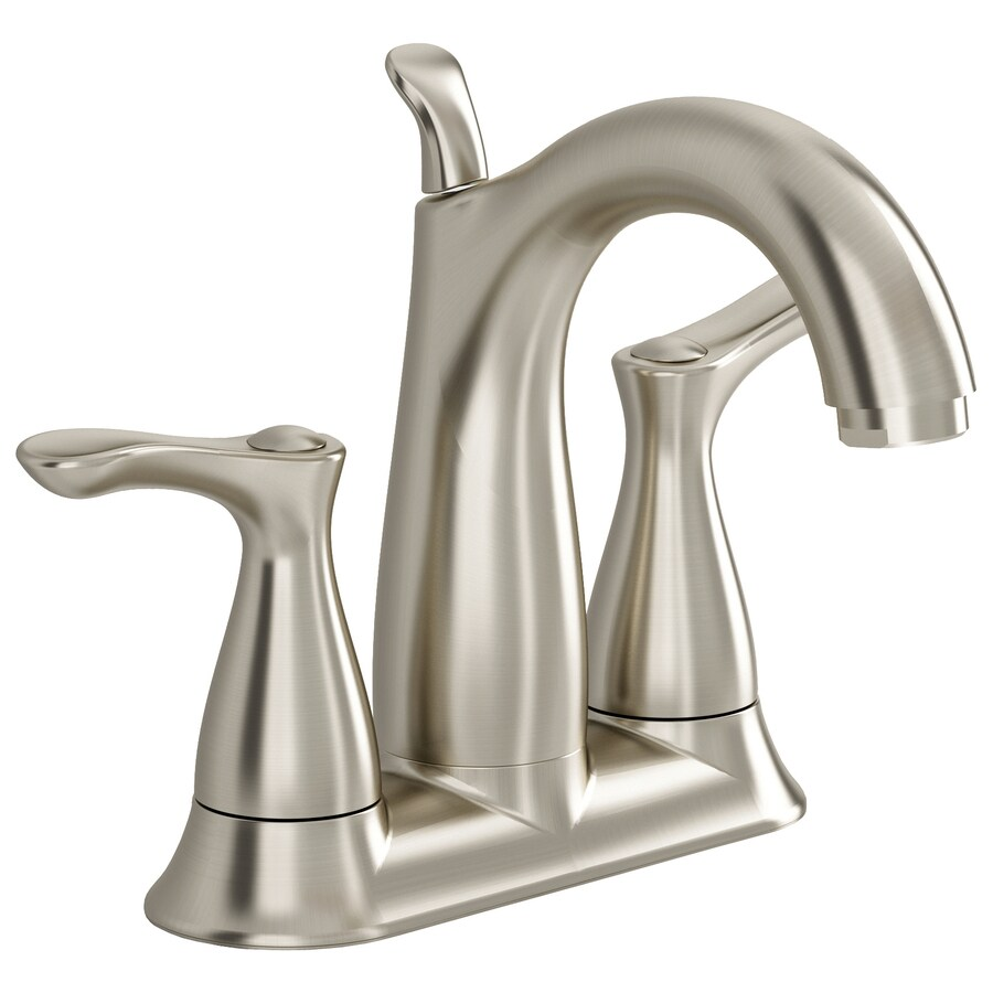 American Standard San Sebastian Satin Nickel 2-Handle 4-in Centerset WaterSense Bathroom Faucet (Drain Included)