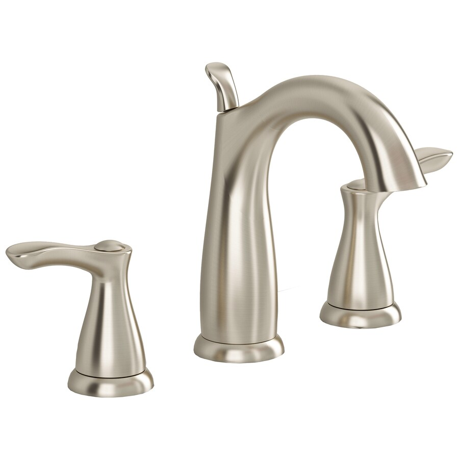 American Standard San Sebastian Satin Nickel 2-Handle Widespread WaterSense Bathroom Faucet (Drain Included)