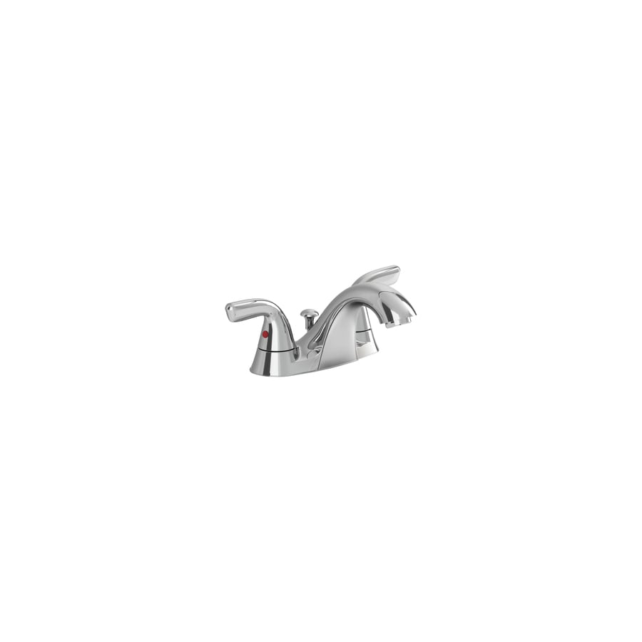 American Standard Covina Chrome 2-Handle 4-in Centerset WaterSense Bathroom Faucet (Drain Included)