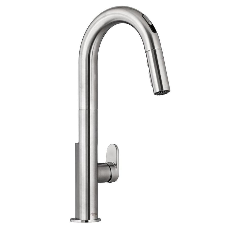 Shop american standard beale stainless steel 1 handle pull down touchless kitchen faucet at - Kitchen faucets touchless ...