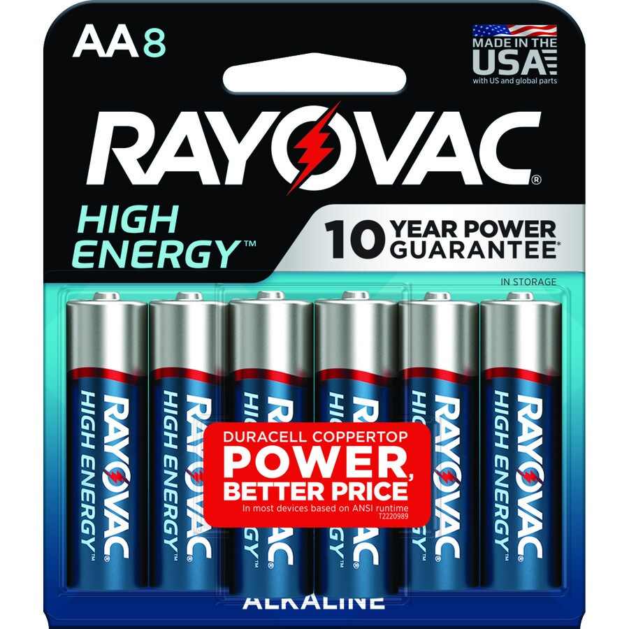 Rayovac 8-Pack AA Alkaline Batteries