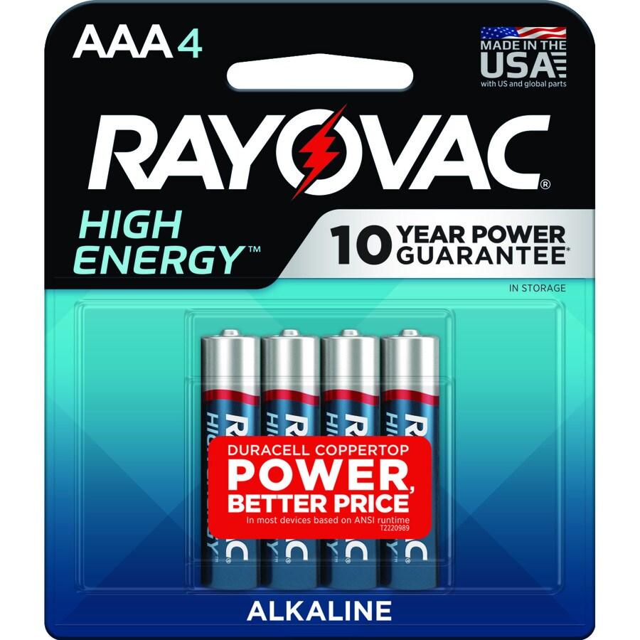 Rayovac 4-Pack AAA Alkaline Batteries